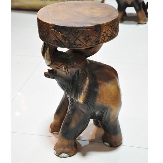 泰国工艺品,柚木雕刻大象凳,东南亚家居饰品;  柚木 雕刻凳  泰国